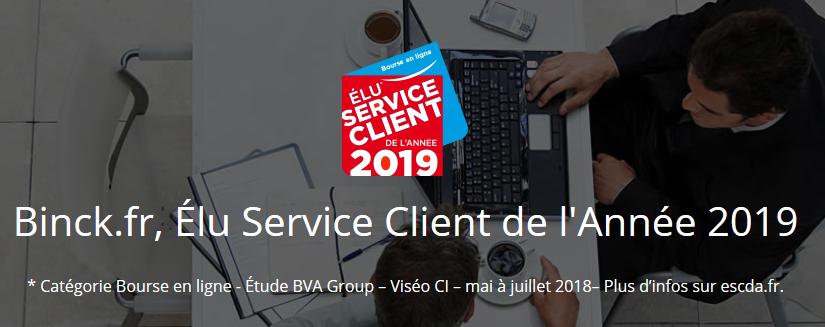 binck élu service client 2019