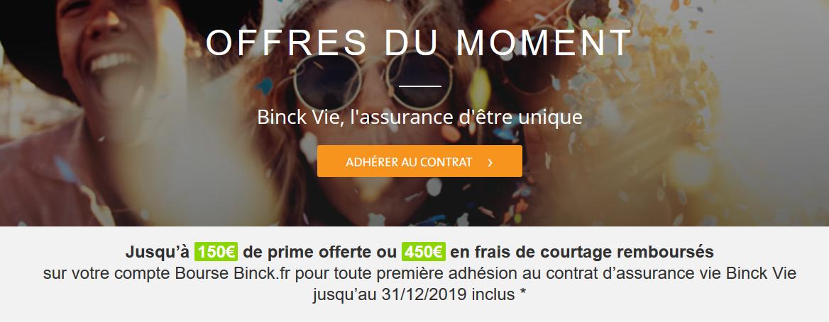 binck vie 150€